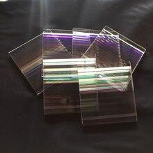 10 шт. красивые дефектные прямоугольные призмы дихроические призмы для вечерние украшения дома искусство ожерелье DIY дизайн
