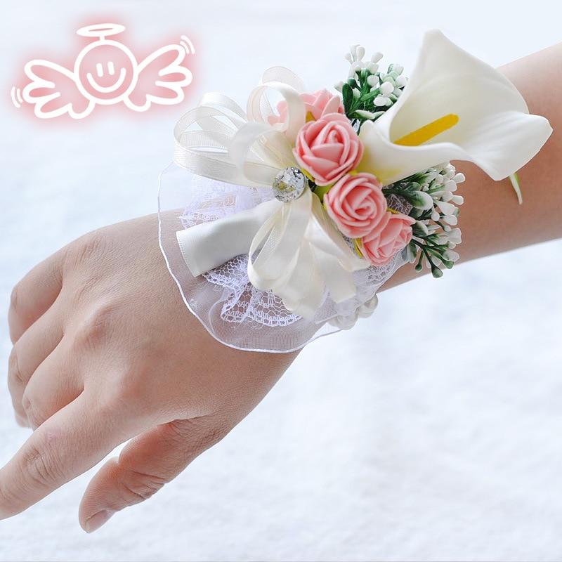 white wedding wrist corsage boutonnieres roses  (19)