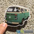 [VW Green Bus] Colored Car Styling JDM Fashion Waterproof Graffiti Sticker Motorcycle Bike Laptop Skatboard Luggage Decals