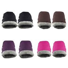 Waterproof Fleece Gloves For Baby Stroller Children Cart Hand Muff Warmer Wheelchair Accessories Winter Cover