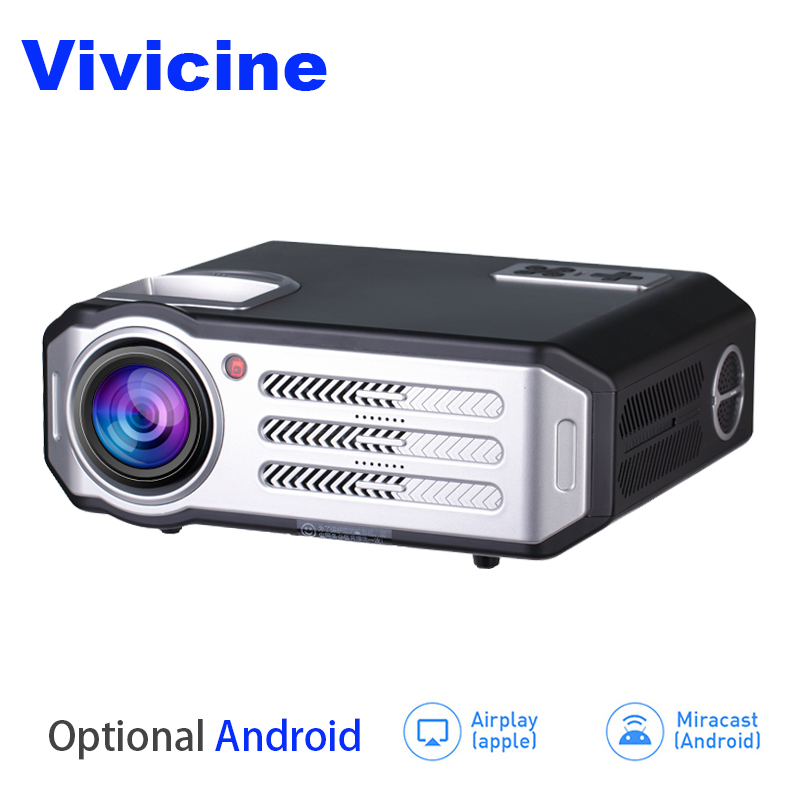 лучшая цена Vivicine LED 1080p Projector RD817,Optional Android Bluetooth WIFI,3500 Lumens,HDMI USB PC TV Multimedia Video Proyector Beamer