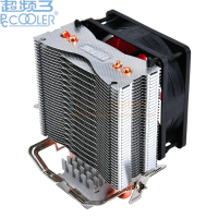 PcCooler S80 2 Heatpipe 8cm Fan CPU Cooler Radiator For Intel LGA 775 1150 1151 1155