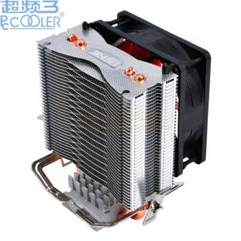 PcCooler 2 heatpipe 8cm fan CPU cooler radiator for Intel LGA 775/1150/1151/1155 for AMD AM2+/AM3/FM1/AM2/939 fan cooling - DISCOUNT ITEM  5% OFF All Category
