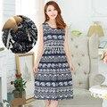 Moda de verano sin mangas vestidos de bohemia dress lactancia ropa de enfermería de maternidad ropa de maternidad para las mujeres embarazadas b51