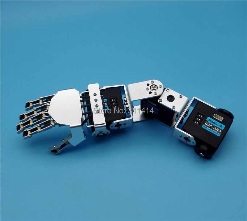Гуманоид 3DOF робот левая рука правая рука с пятью пальцами манипулятор и сервопривод для DIY робототехники рука собрана