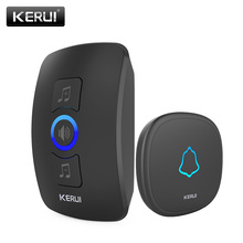 KERUI M525 Home Security Welcome Wireless Doorbell Smart Chimes Doorbell Alarm LED light 32 Songs with Waterproof Touch Button(China)
