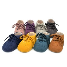 0-18M First Walkers Baby Kids Soft Sole Moccasin Boys Girls Suede Leather Crib Shoes