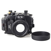 Meikon 40m/130ft Underwater Diving Camera Housing Case for Canon G5X Camera,Camera Waterproof Bags Case Cover for Canon G5X
