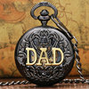 DAD Manual Semi Automatic Mechanical Pocket Watch For Dad Father Daddy Gift Father S Day Gifts