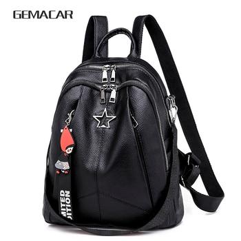 c8c17ac556df Минимализм женский рюкзак из искусственной кожи молодежи для женщин Bagpack  красивая мода Девушка Повседневное Рюкзаки Леди Сумка 2019 Новый