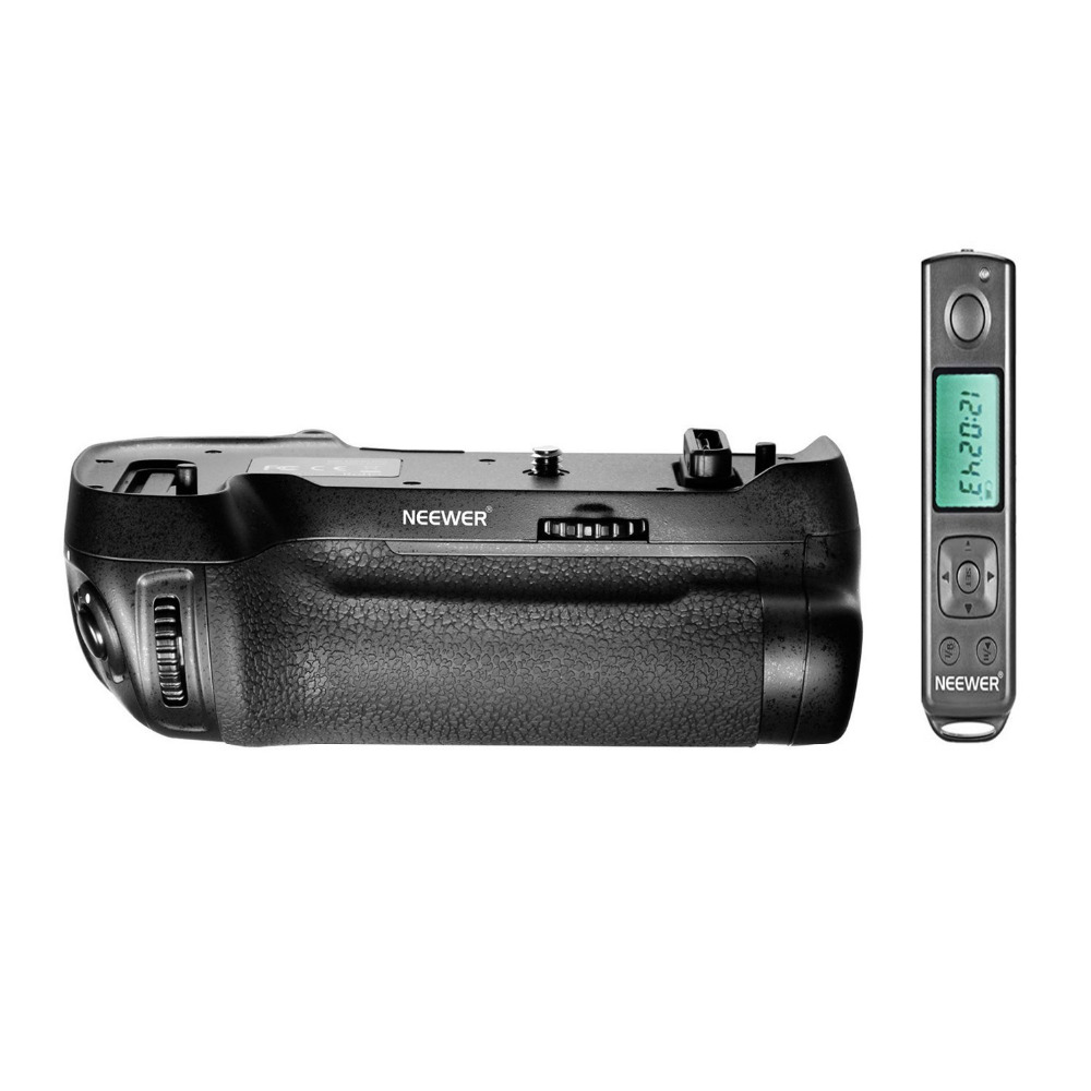 Neewer 2.4GHZ Wireless Remote Control Battery Grip As MB-D17 for Nikon D500 Camera Work with 1 Piece EN-EL15 Battery Or 8 Pcs AA meike vertical battery grip for nikon d7100 d7200 as mb d15 2 en el15 dual charger