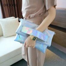 DICOOL Weibliche bolso berühmte marke laser silber holographische handtasche mode hologramm frauen umhängetasche