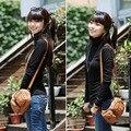 Nuevo 2016 Mujeres Suéteres de Cuello Alto Sólido de la Camisa Básica de manga Larga Que Basa La Camisa Tops 6 Colores
