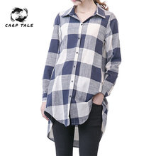 Plaid Maternity Blouses high quality Loose Top Clothes For Pregnant Women Wear Pregnancy Clothing Long Sleeve Shirt Plus Size hot sale autumn velvet warm maternity blouse blouses plus size slim casual elegant bowknot pregnancy t shirt pregnant clothes