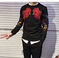 fashion embroidered with sequins hoody and cashmere sweatershirt  male thickening hoody