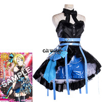Love Live School Idol Project Ayase Eli Arcade Game III Tube Tops Dress Uniform Shorts Outfit