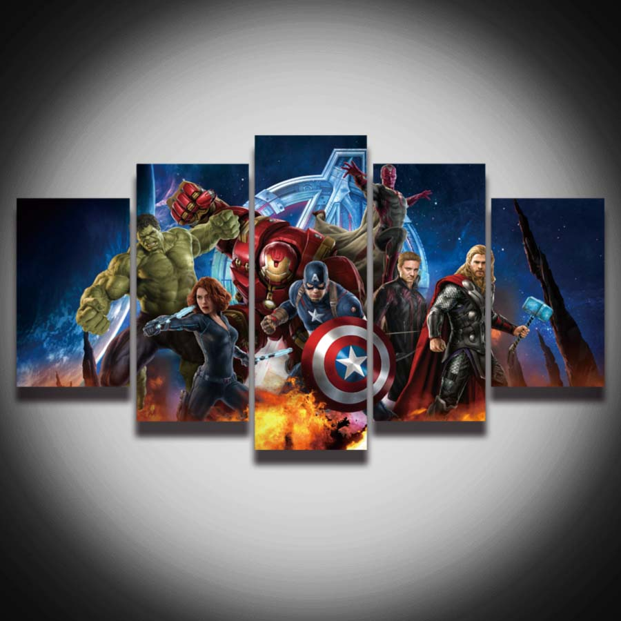 HD Printed Avengers Super Hero