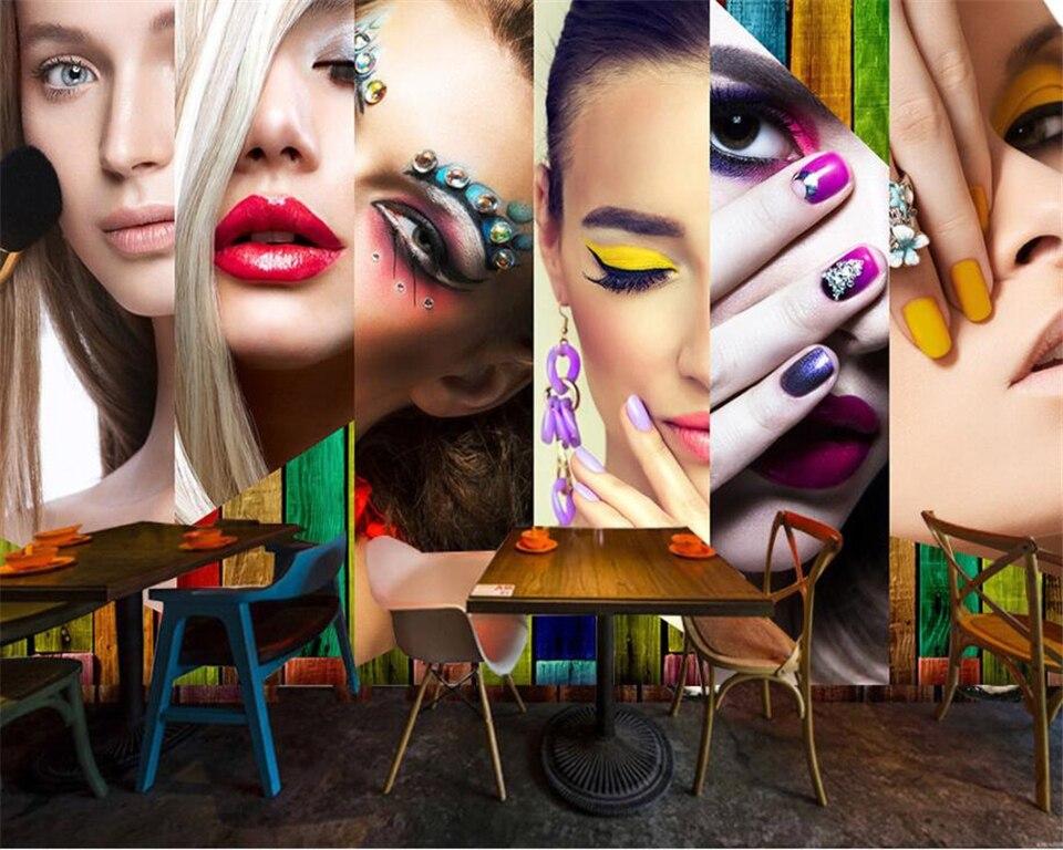 Beibehang Custom Wallpaper Hd Vintage Fashion Makeup Lip Makeup Beauty Salon Nail Shop Wall 3d Wallpaper Mural Papel De Parede Mural Papel De Parede Papel De Paredede Parede Aliexpress