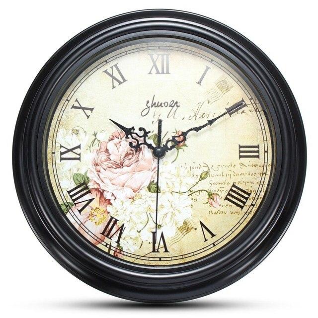 Charminer 12 Inch Moistureproof Art Quartz Wall Clock Vintage Living Room Home Decor Not Easy