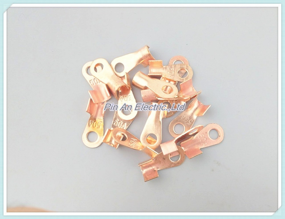 10/20/30 шт. 20A наконечник кабельный разъем 6.2 мм кольцо для M6 Стад открыть медные батареи разъемы кабельные наконечники OT-20A