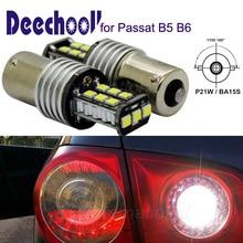 Deechooll 2x BA15S автомобиля светодиодный лампы для VW Passat B5 B6, Canbus автоматический P21W светодиодный фонарь заднего хода для Passat 01-10 1156 фонарь заднего хода лампа