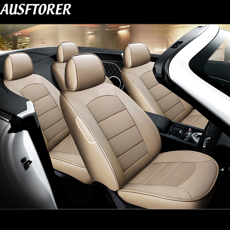 Excellent Ausftorer Cowhide Leather Seat Covers For Ford Mustang 2015 2016 2017 2019 Seat Cover Accessories Car Seats Cushion Styling 12Pc Squirreltailoven Fun Painted Chair Ideas Images Squirreltailovenorg