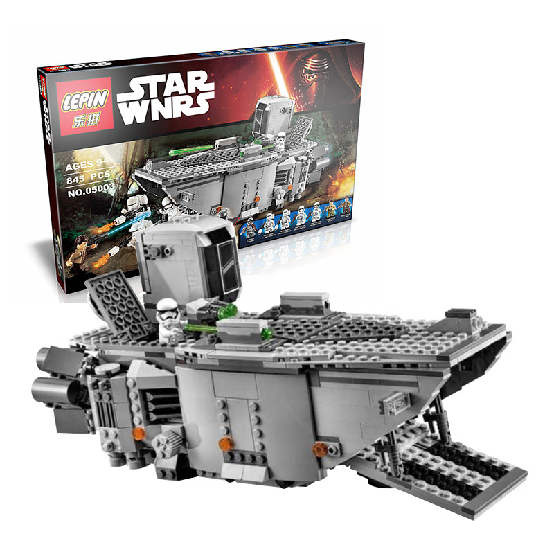 05003 Star Wars The Force Awakens First Order Transporter Figure Toys Building Blocks Marvel Figures classic model toys