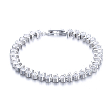 High quality fashion shiny crystal female 925 sterling silver ladies`bracelets jewelry women gift wholesale promotion