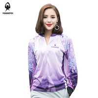 RENXINGREN Women's Moisture Fishing Clothings Plus 5xl Stretchable Breathable Anti UV Quick drying Clothes for Outdoor Sports