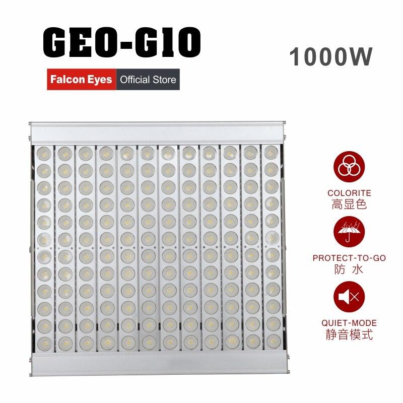 Falcon Eyes 1000W Impermeable Gigante LED Luz Regulable Continua Alta - Cámara y foto