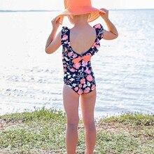 Летний купальный костюм, Детский комбинезон для маленьких девочек, комплект бикини, купальный костюм, одежда для купания, пляжная одежда для купания