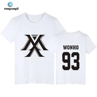 Kpop Monsta X Concert Same Printing O Neck Short Sleeve T Shirt For Fans Supportive Summer