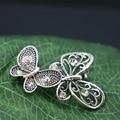 Borboleta strass broche bouquet Breastpin broches de cristal de vidro fazendo Design de jóias acessórios para mulheres meninas 29 * 43 mm