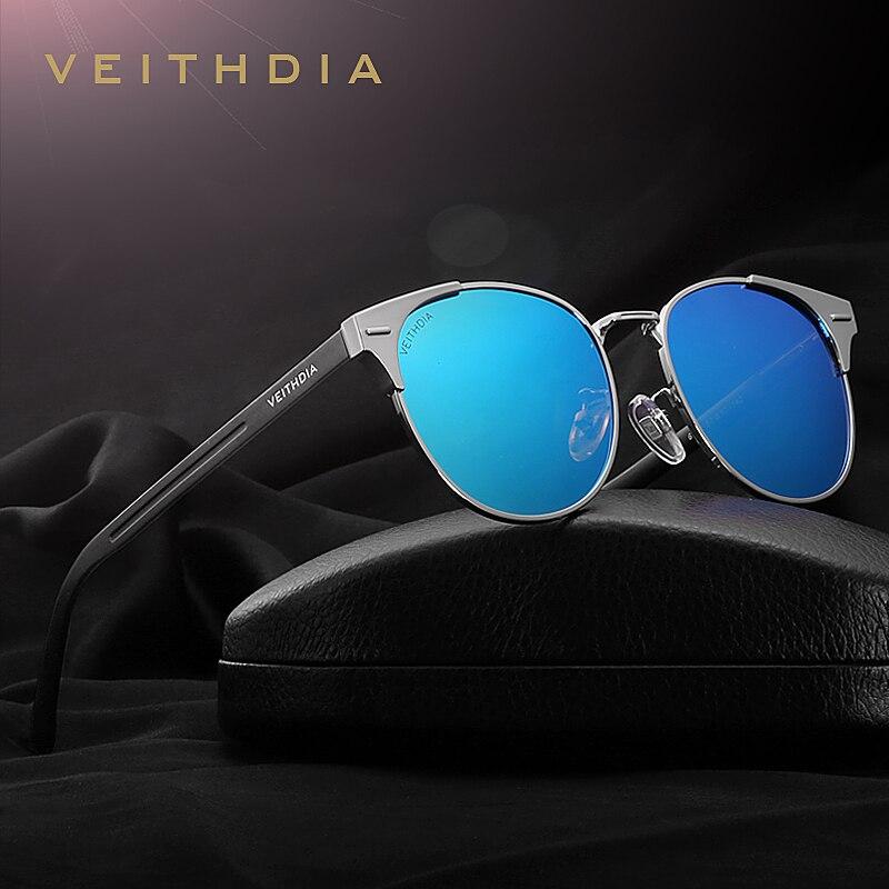 VEITHDIA Unisex Retro Aluminium Marke Sonnenbrille Polarisierte Linse Vintage Brillen Zubehör Sonnenbrille Oculos Für Männer Frauen 6109