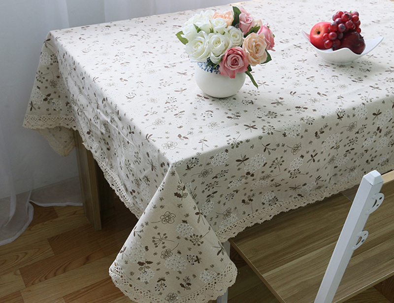 Decorative Table Cloth Linen Lace Tablecloth Rectangular Dining Table Cover Table Cloths Obrus Tafelkleed mantel mesa nappe