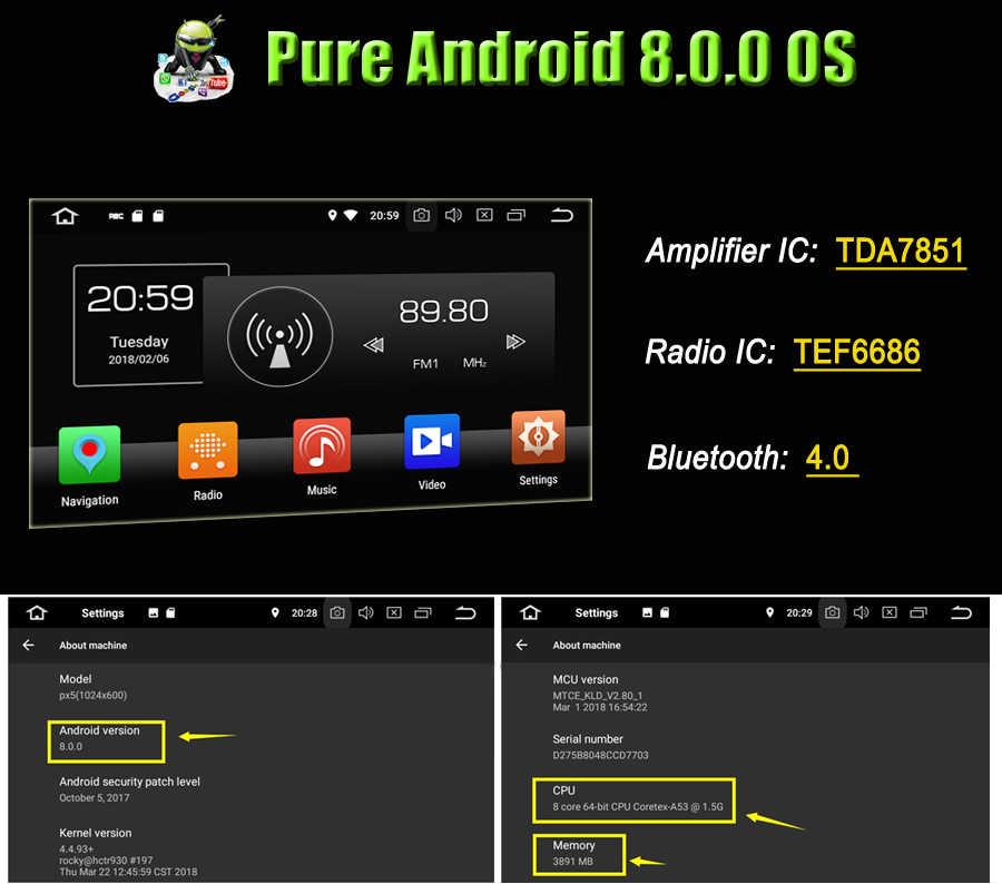 HD TDA7851 Android 9,0 4 Гб ОЗУ 32 Гб ПЗУ 8 ядерный автомобильный dvd-плеер gps ГЛОНАСС карта RDS радио wifi Bluetooth для VW Sagitar 2015 2016