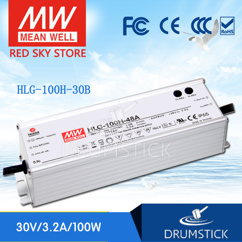 MEAN WELL HLG-100H-30B 30V 3.2A meanwell HLG-100H 30V 96W Single Output LED Driver Power Supply B type [Real6]