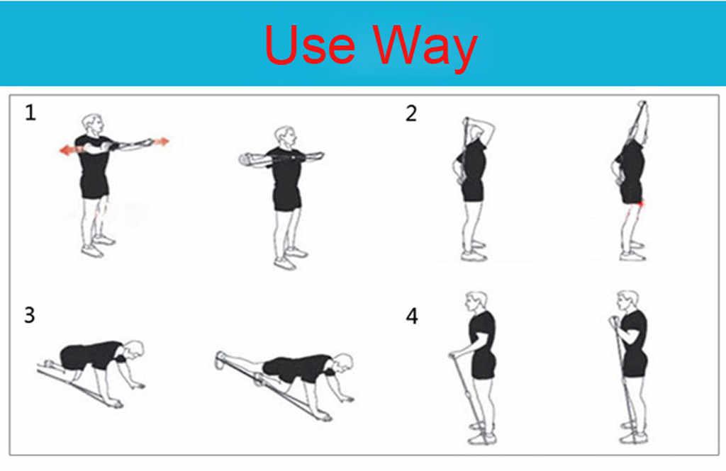 2019 Hot joga Gum Fitness odporność na 8 słowo ekspander klatki piersiowej liny Workout mięśni Fitness gumowe Opaski elastyczne do ćwiczeń sportowych