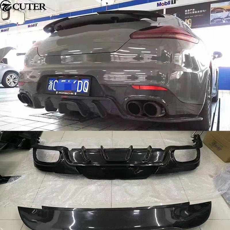 Carbon Fiber Car Body Kit Rear Trunk Spoiler Lip Wing Rear