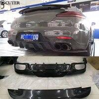 Carbon Fiber Car body kit Rear Trunk Spoiler Lip Wing Rear diffuser lip For Porsche Panamera 970 09 15