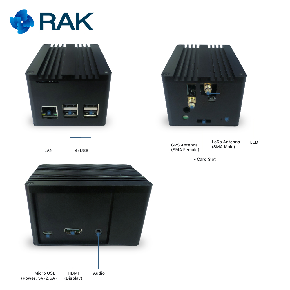 RAK831 Pilote Passerelle SX1301 + Framboise Pi3 + GPS avec une enceinte complète pour professionnel démonstration mis en place - 3