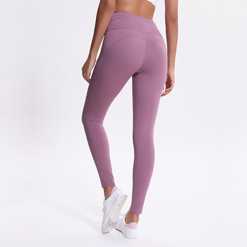 Colorvalue Reflective High Waist Workout Sport Leggings Women Squatproof Soft Nylon Fitness Gym Tights Yoga Pants with Pocket 1
