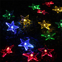 Star Led string Lights Outdoor Solar Lamps 6m 30LEDs Christmas Lighting Waterproof Pendant Fairy Wedding Garden Garland fixtures