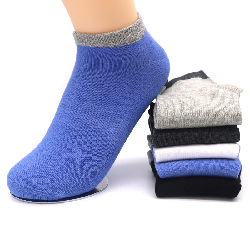 Mens Dress Socks Blends Cotton Ankle Socks for Mens Business Short Socks Male Sock Fashion Calcetines Hombre 5Pair/lot