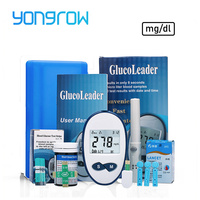Yongrow медицинские глюкозы в крови mg/шт. dl 25 шт. иглы ланцеты сахар монитор Мути-часть собирать глюкометр крови