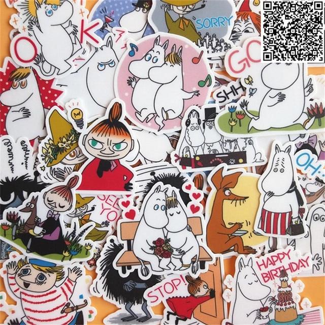 38 шт. Mooin и наклейка в форме животных для чемодан скейтборд телефон ноутбук Moto Велосипедный спорт стены гитары/измена стикеры s/DIY Скрапбукинг