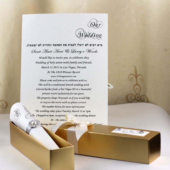 wedding canada invitation invitations brooch fancy gold elegant