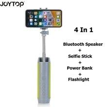 조이스틱 무선 블루투스 스피커 Selfie 스틱 전화 홀더 스탠드 전원 은행 스피커 TF 카드 손전등 4 1 전화에 대 한