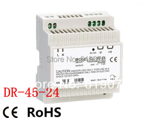 new component 45W 24V Din Rail Single Output Switching power supply стиральная машина samsung wf60f1r0h0w
