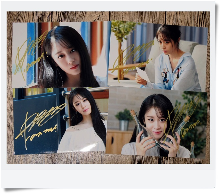T ARA TARA Park Ji Yeon Autographed Photo What s my name 4 photos set 4